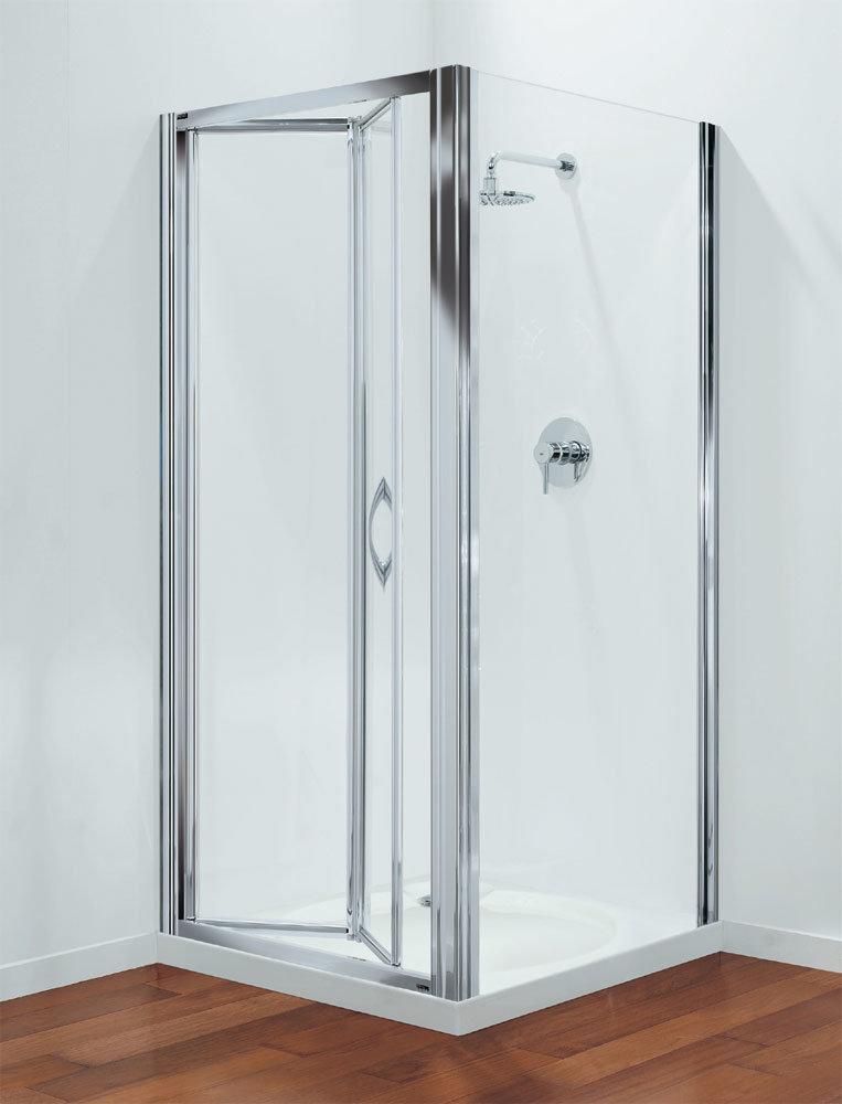 Coram - Premier Bi-Fold Shower Door - Various Size Options Large Image
