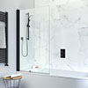 Crosswater Design+ Matt Black Single Bath Screen profile small image view 1