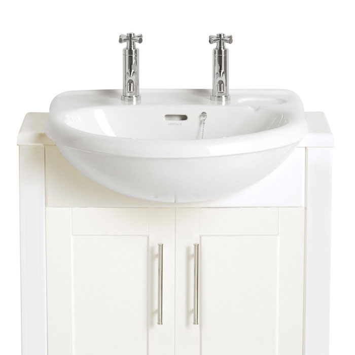 Heritage - Belmonte Semi-Recessed Basin - 1 or 2 Tap Hole Options profile large image view 1