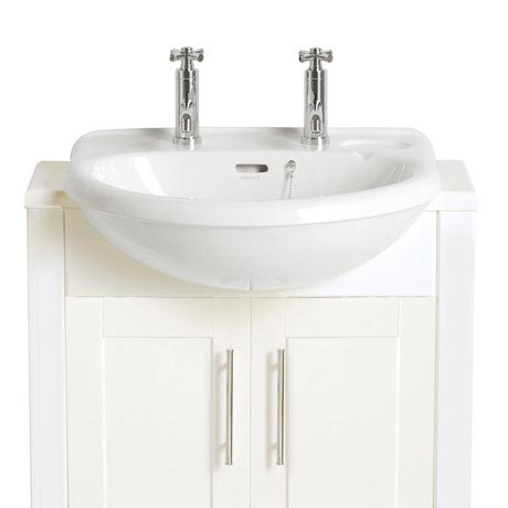 Heritage - Belmonte Semi-Recessed Basin - 1 or 2 Tap Hole Options