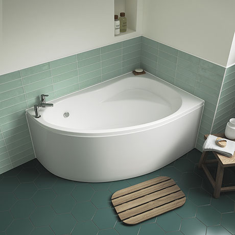 Nuie Pilot Offset Corner Bath with Panel - Right Hand - PCB002