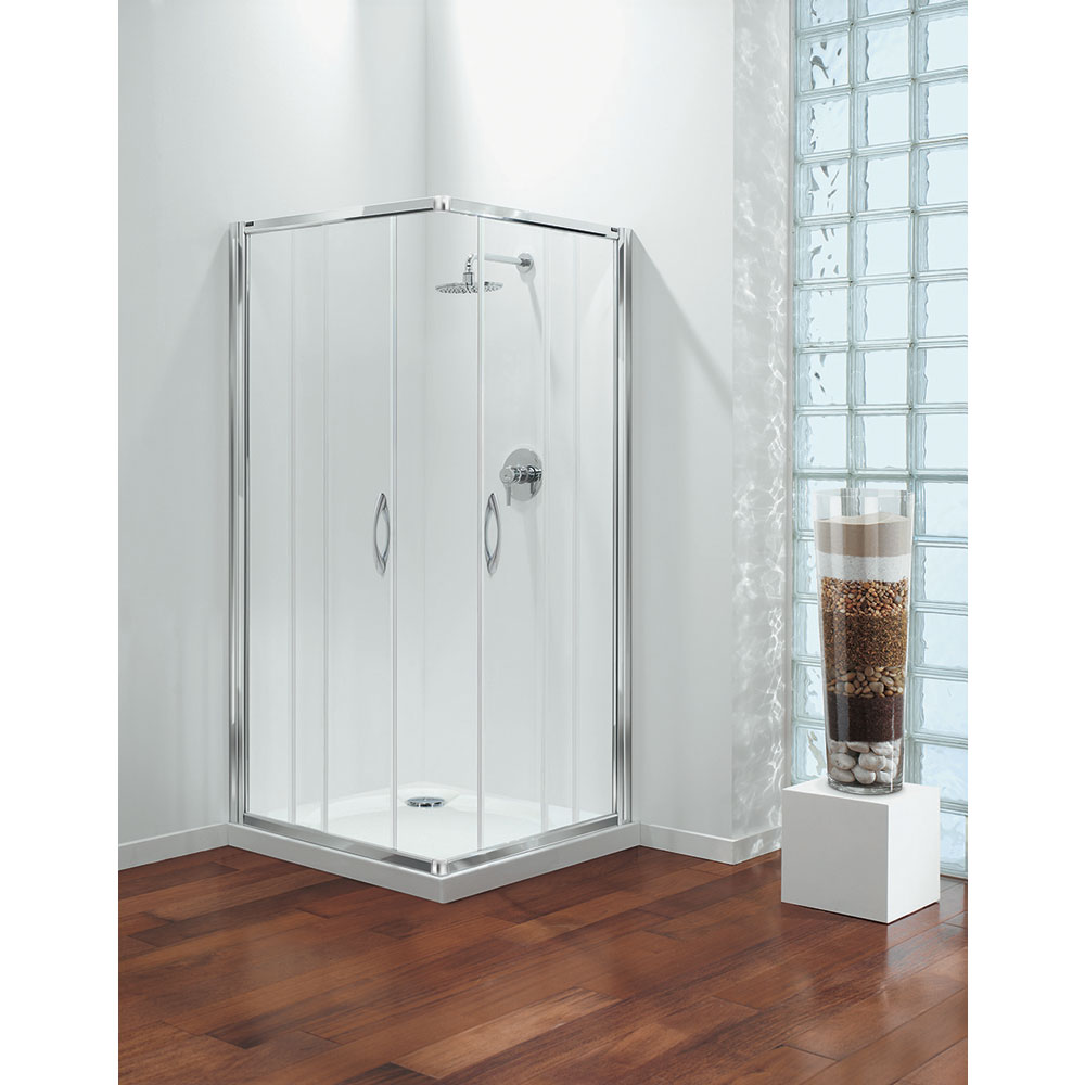 Coram - Premier Corner Entry Shower Enclosure - Various Size Options profile large image view 1