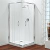 Coram - Premier Corner Entry Shower Enclosure - Various Size Options profile small image view 1