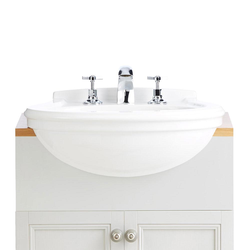 Heritage Claverton Medium Semi-Recessed Basin Large Image
