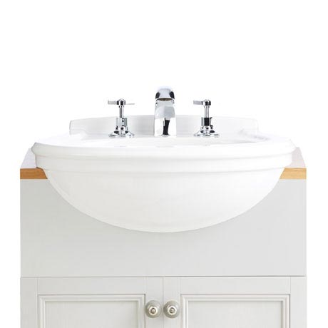 Heritage Claverton Medium Semi-Recessed Basin