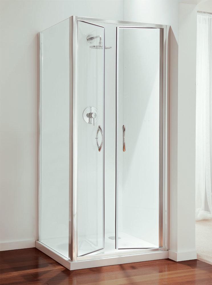 Coram - Premier Double Pivot Shower Door - Various Size Options Large Image