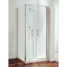 Coram - Premier Double Pivot Shower Door - Various Size Options Medium Image