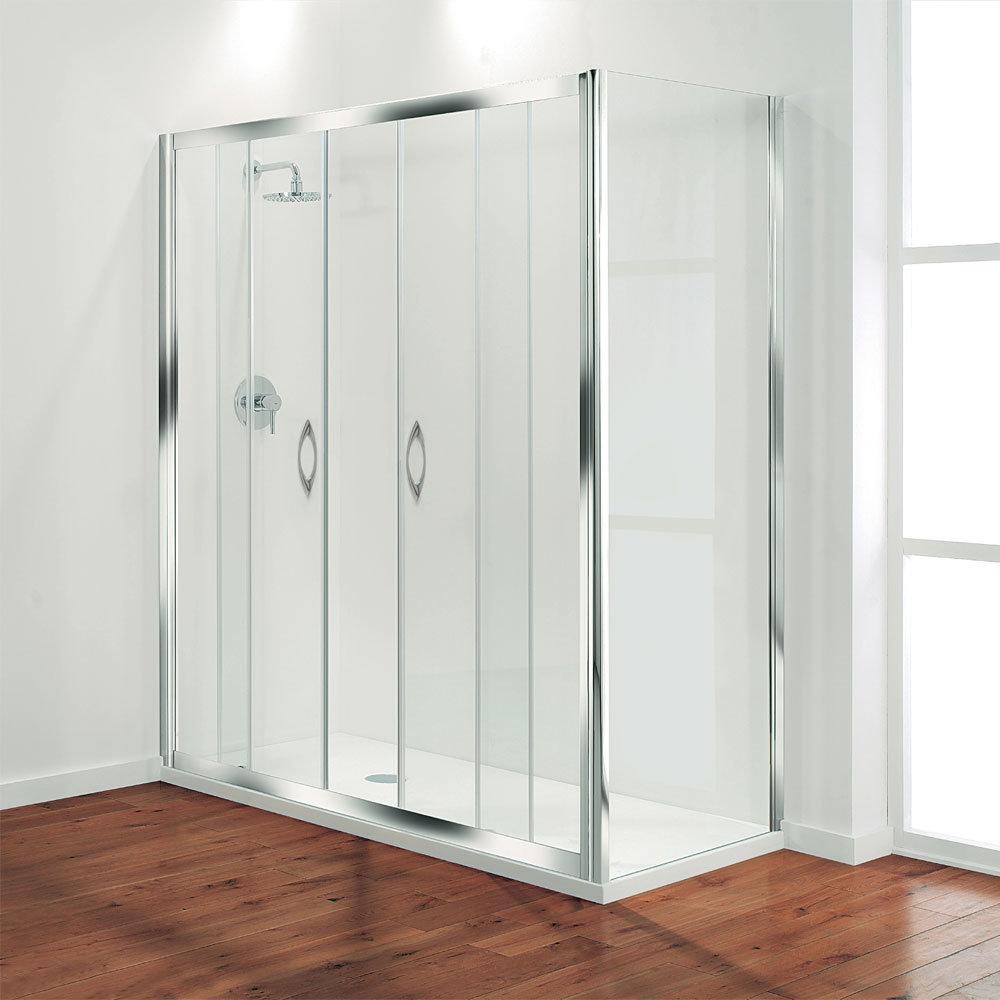 Coram - Premier Double Sliding Shower Door - Various Size Options Large Image