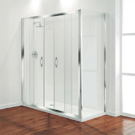 Coram - Premier Double Sliding Shower Door - Various Size Options