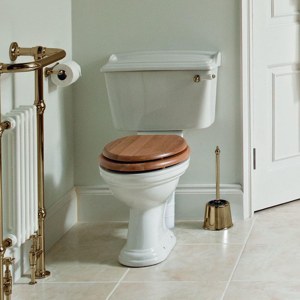 Heritage - Dorchester Close Coupled WC & Landscape Cistern - Various Lever Options Feature Large Image