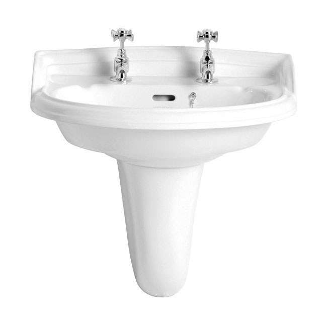 Heritage - Dorchester Basin & Semi Pedestal - 1 or 2 Tap Hole Options Large Image