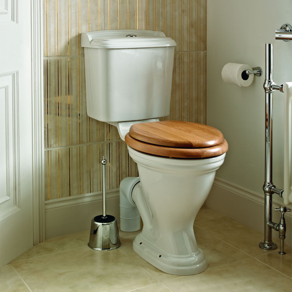 Heritage - Dorchester Close Coupled Comfort Height WC & Portrait Cistern Profile Large Image
