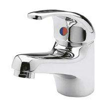 Ultra Eon Single Lever Mono Basin Mixer Tap with Waste - Chrome - PF305 Medium Image