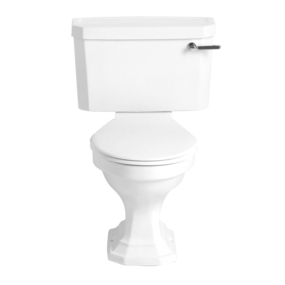 Heritage - Granley Deco Close Coupled Standard Height WC & Landscape Cistern - Various Lever Options Large Image