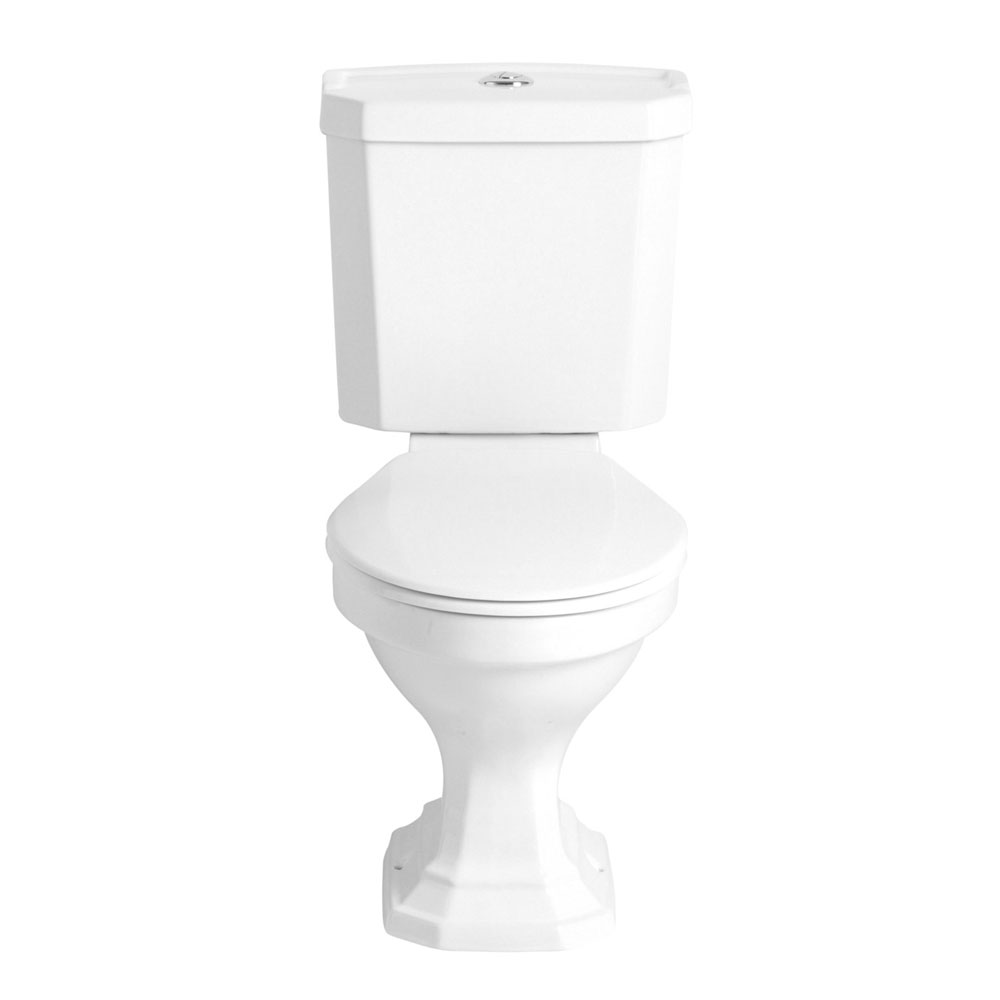 Heritage - Granley Deco Close Coupled Standard Height WC & Portrait Cistern Large Image