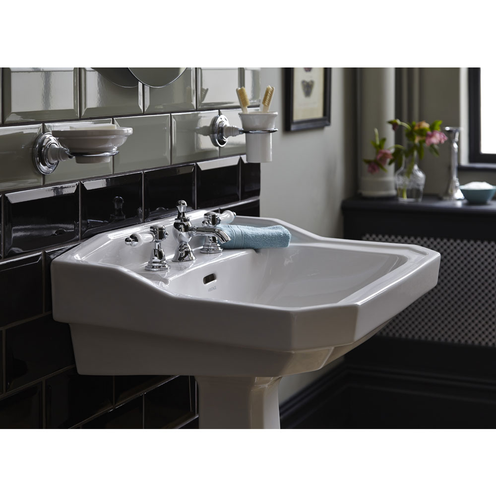 Heritage - Granley Standard Basin & Tall Pedestal - Various Tap Hole Options profile large image view 4