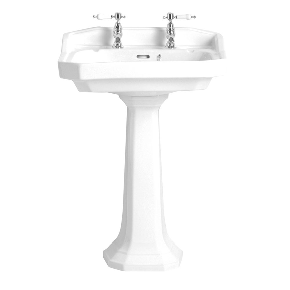Heritage - Granley Standard Basin & Pedestal - Various Tap Hole Options