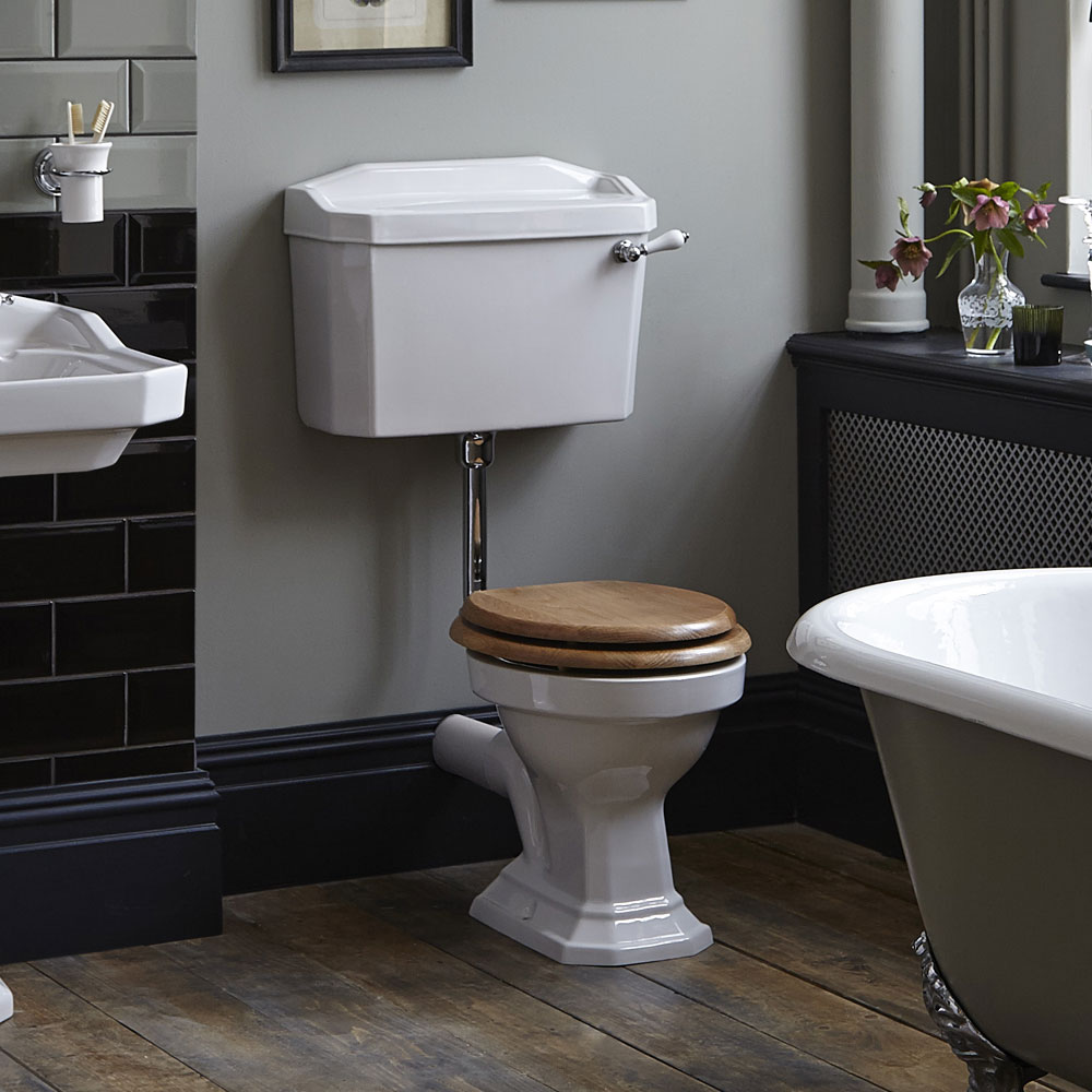 Heritage - Granley Low-level WC & Gold Flush Pack - Various Lever Options profile large image view 3