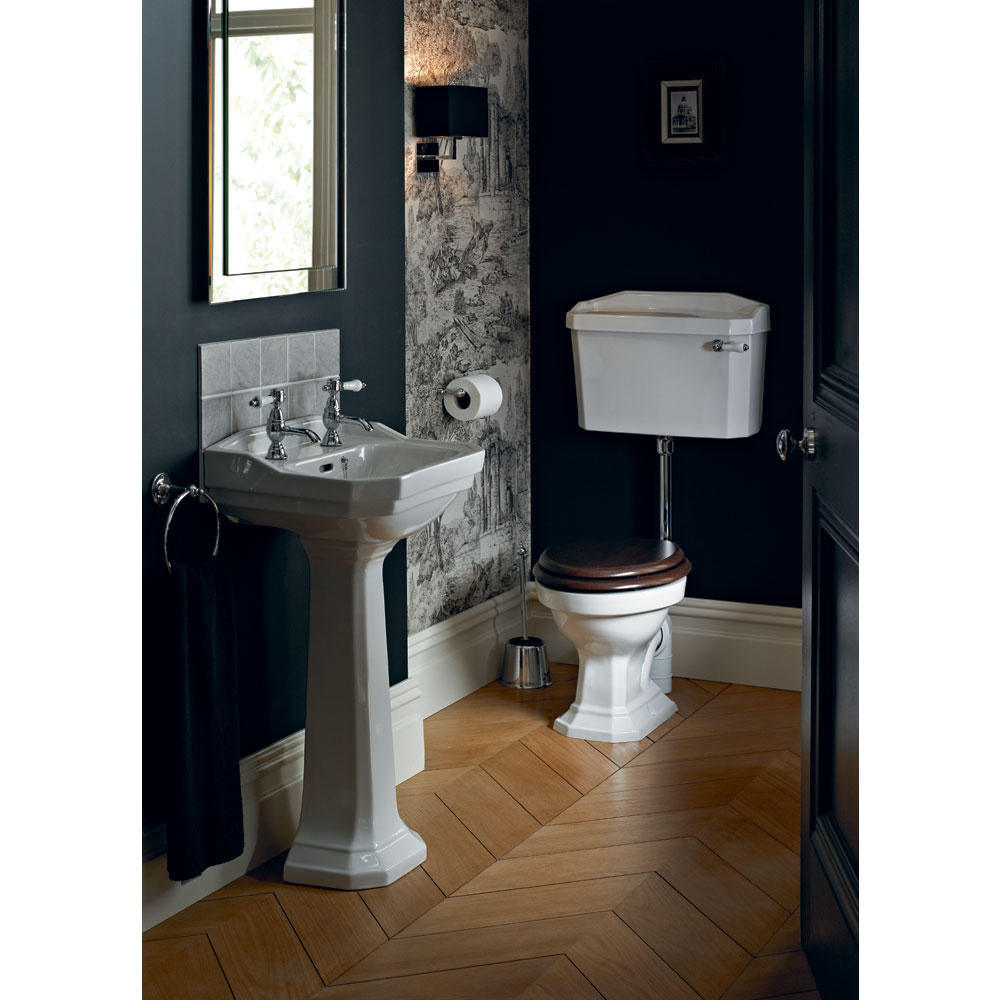 Heritage - Granley Low-level WC & Chrome Flush Pack - Various Lever Options Standard Large Image
