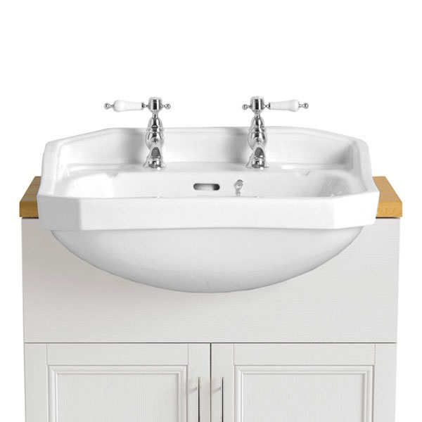 Heritage - Granley Semi-Recessed Basin - Various Tap Hole Options profile large image view 1