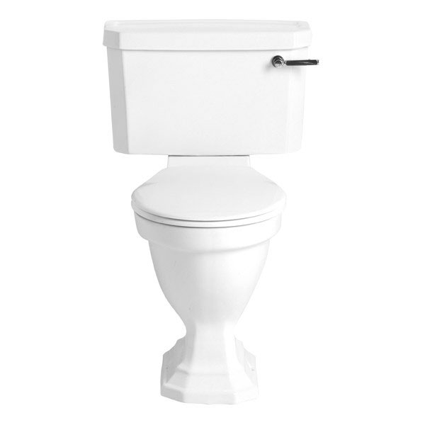 Heritage - Granley Deco Close Coupled Comfort Height WC & Landscape Cistern - Various Lever Options profile large image view 1
