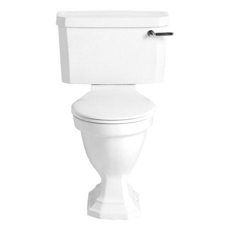 Heritage - Granley Deco Close Coupled Comfort Height WC & Landscape Cistern - Various Lever Options