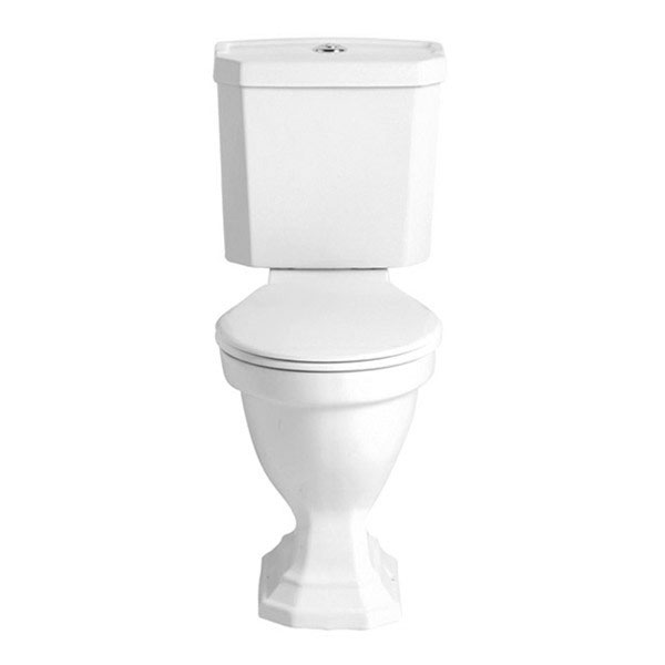 Heritage - Granley Deco Close Coupled Comfort Height WC & Portrait Cistern Large Image