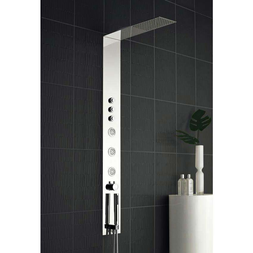 Hudson Reed - Guise Fully Recessed Concealed Thermostatic Shower Panel - PGU001 profile large image view 2