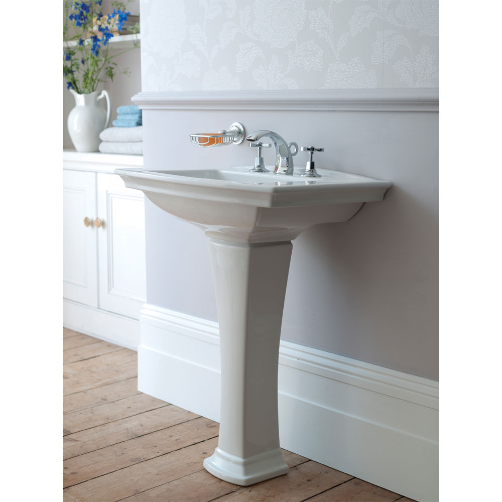 Heritage - Blenheim Basin & Pedestal - Various Tap Hole Options Profile Large Image