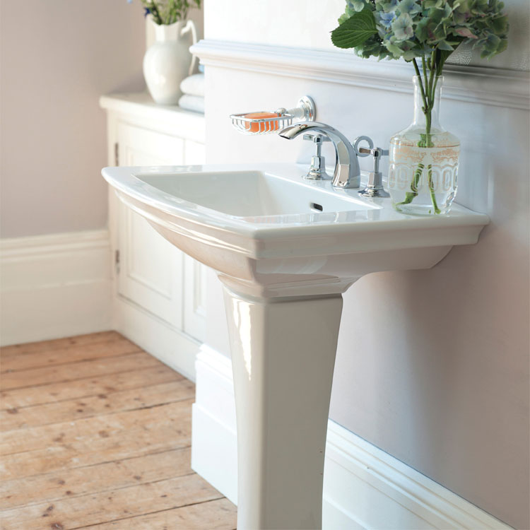 Heritage - Blenheim Basin & Pedestal - Various Tap Hole Options Feature Large Image
