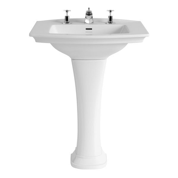 Heritage - Blenheim Basin & Pedestal - Various Tap Hole Options Large Image