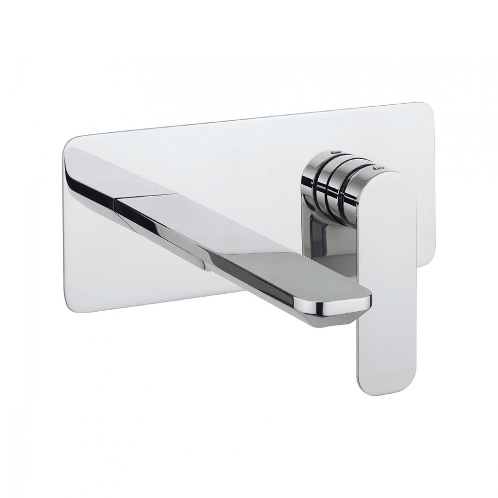 Crosswater - Pier Wall Mounted 2 Hole Set Basin Mixer - PI121WNC Large Image