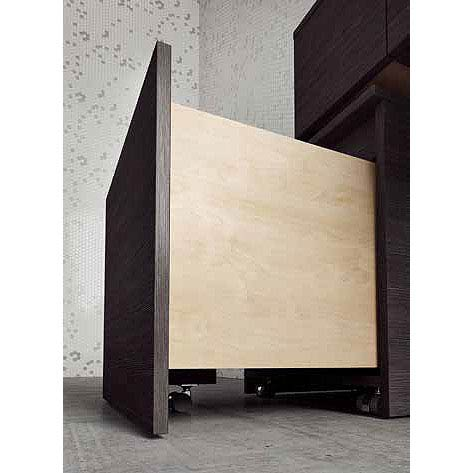 Bauhaus Pier Mobile Storage Unit - Ebony - PI5055DEB profile large image view 3