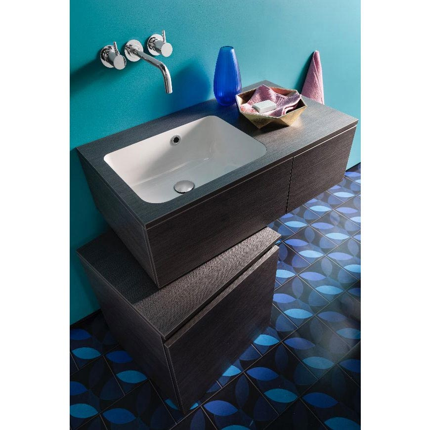 Bauhaus Pier Wall Hung Console Unit & Basin - Ebony additional Large Image