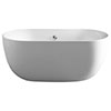 Picco 1500 x 780mm Double Ended Freestanding Bath profile small image view 1
