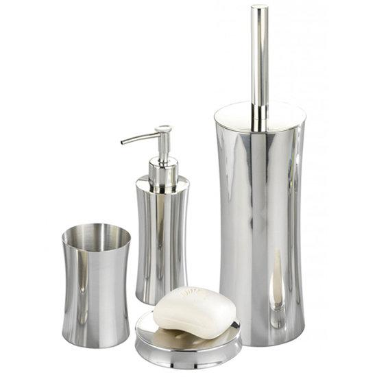 Wenko pieno shiny bathroom accessories set stainless for Victorian bathroom accessories set