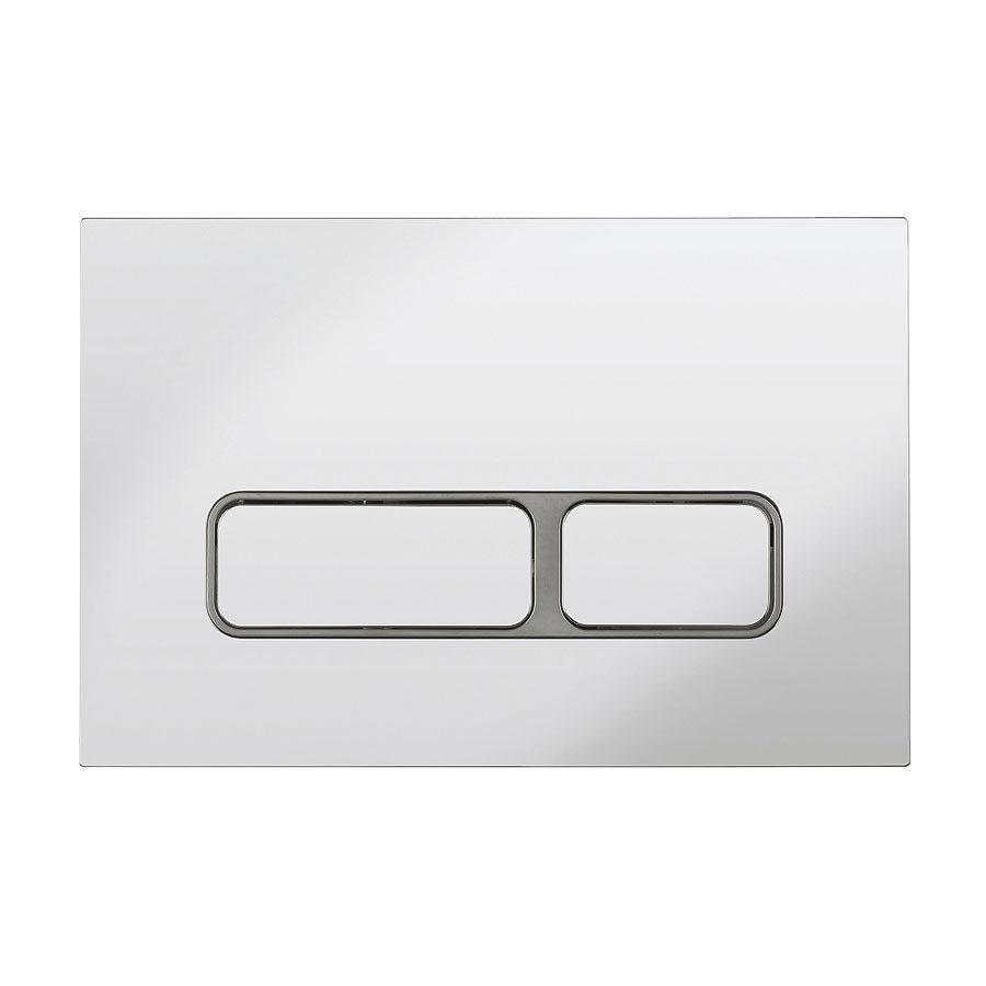 Bauhaus Pier Chrome Dual Flush Plate - PIFLUSHC Large Image