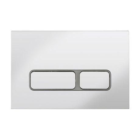 Bauhaus Pier Chrome Dual Flush Plate - PIFLUSHC