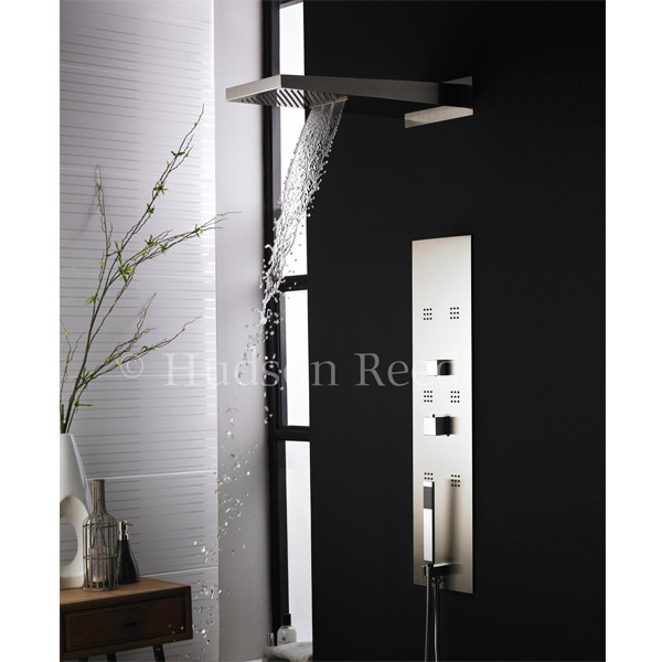 Hudson Reed - Interval Fully Recessed Thermostatic Shower Panel & Head - PIN001 profile large image view 2