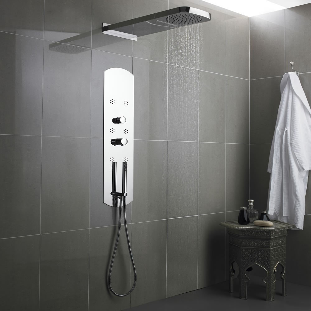 Hudson Reed - Interval Recessed Thermostatic Shower Panel | Shower Towers: What They Are & Why You'll Want One