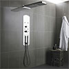 Hudson Reed - Interval Recessed Thermostatic Shower Panel - Chrome - PIN003 Medium Image