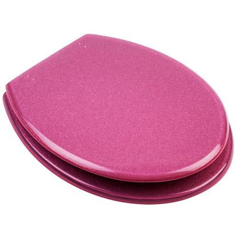 Excellent Euroshowers Pink Glitter Resin Toilet Seat 81980 At Gmtry Best Dining Table And Chair Ideas Images Gmtryco