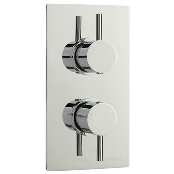 Pioneer Twin Concealed Thermostatic Shower Valve with Slide Rail Kit profile large image view 2