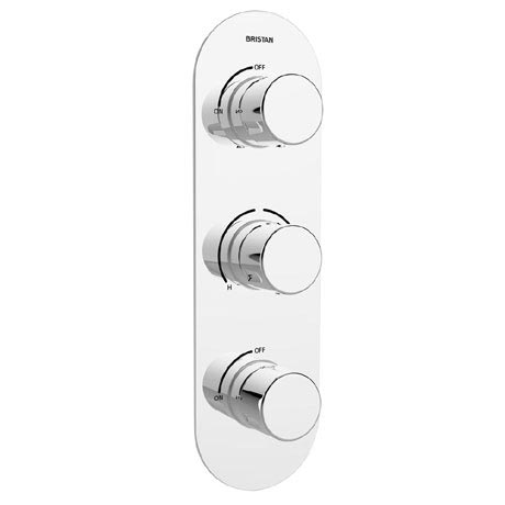 Bristan - Pivot Thermostatic Recessed Dual Control Three Handle Shower Valve with Integral Twin Stop