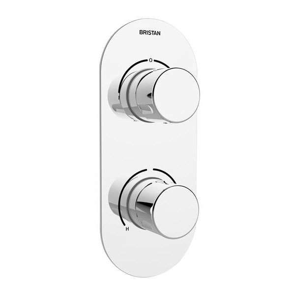 Bristan - Pivot Thermostatic Recessed Dual Control Shower Valve with Integral Two Outlet Diverter Large Image