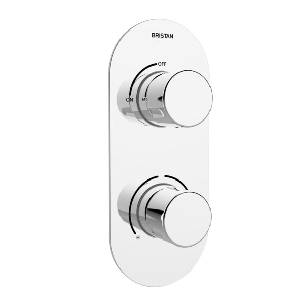 Bristan - Pivot Thermostatic Recessed Dual Control Shower Valve - PIV-SHCVO-C Large Image