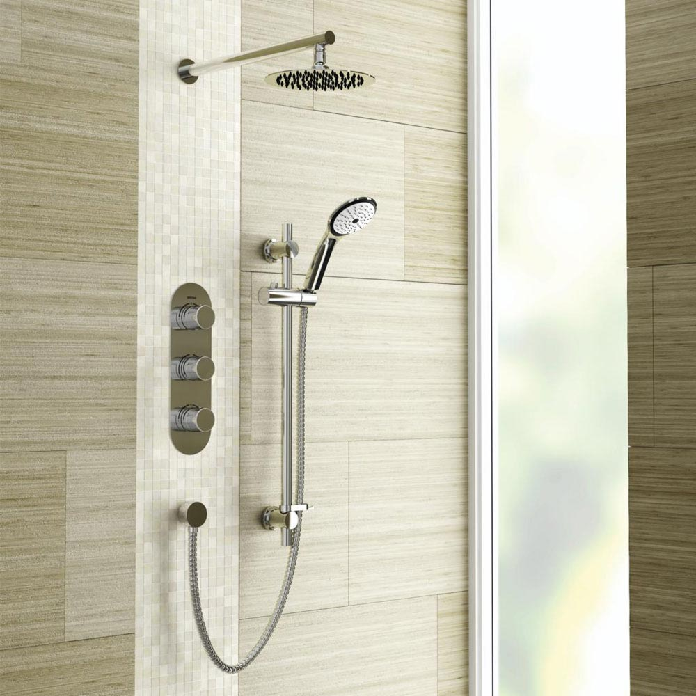 Bristan Pivot Recessed Dual Control Shower Pack Large Image