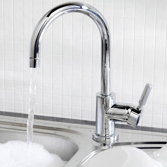Ultra Helix Side Action Sink Mixer - Chrome - PK380 profile large image view 2