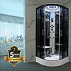Insignia Platinum 1000 x 1000mm Steam Shower Cabin - PL10-QBF-TG-S profile small image view 1