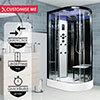 Insignia Platinum 1200 x 800mm Non-Steam Shower Cabin Black Frame profile small image view 1
